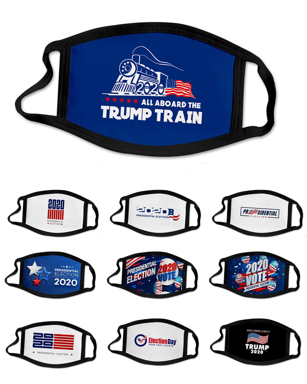 New designer face mask 2020 Trump presidential election campaign reusable black face masks Trump print mask Protective Dustproof mouth mask