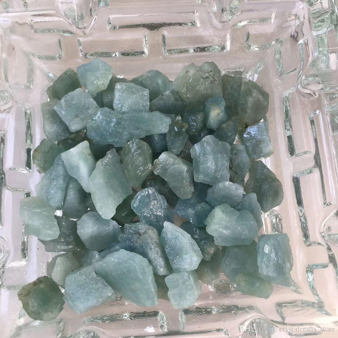 aigue-marine naturelle quartz 50 g pierre bleu pour la fabrication de bijoux cristaux de guérison méditation rugueux pierres précieuses échantillons