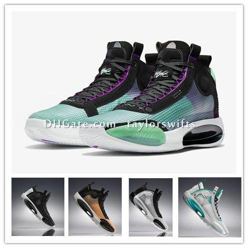 Jumpman XXXIV 34 Голубой Бездны Баскетбол обувь 34s Увеличить Затмение Бред Amber Взлет PE Green Glow Metallic Silver Mens Спортивные кроссовки TaylorSwift