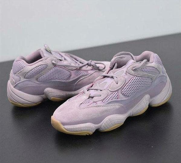 2019 Nouveau Designer 500 Vision douce Chaussures de course Kanye West Violet coureur de vague Fashion Look Sport Sneaker