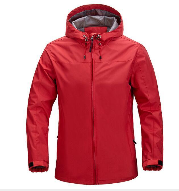 uomini di modo giacca 2020 primavera autunno esterna casuale cappotto incappucciato giacca impermeabile Outerwear Top Zip e lunghi cappotti manica