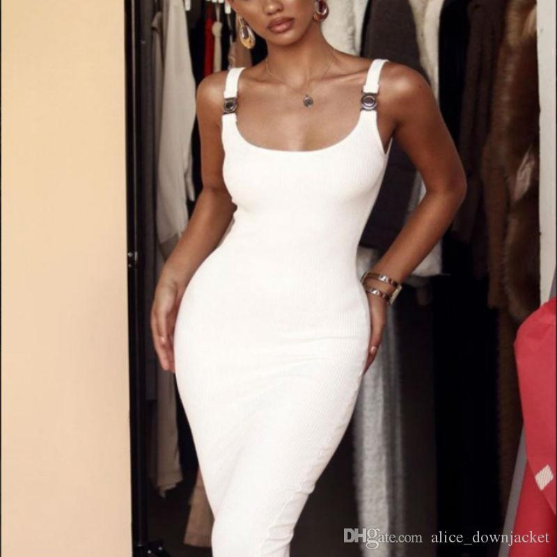 Freie Entwurfssommerfrauen des Verschiffens 2019 kleidet schwarze weiße Rayon bodycon Verbandkleid-Isolationsschlauchbügel-Abendvereinkleider vestidos