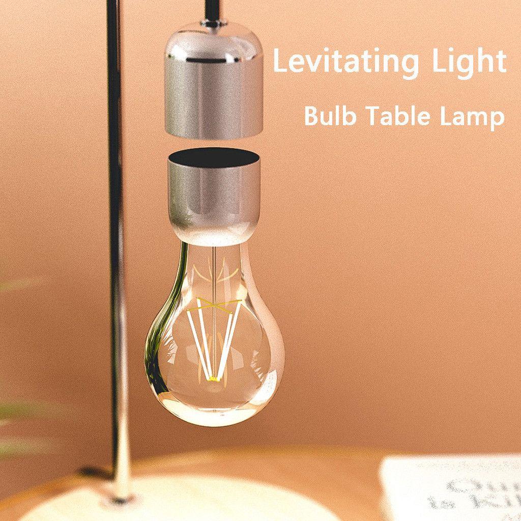 Lampadina a levitazione Lampada da tavolo Luminosità Lampada antigravità Lampada magnetica Libro di lettura Luci Geek Touch Dimmer Esibizione