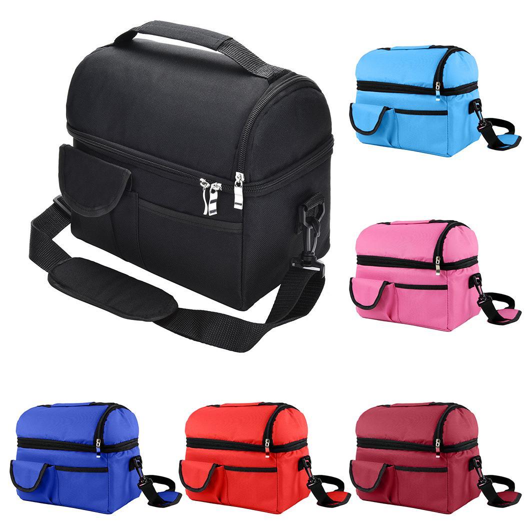 سعة كبيرة المحمولة معزول الدفء حقيبة الغداء الحرارية نزهة حقيبة للنساء أطفال الرجال الحرارية الغداء مربع