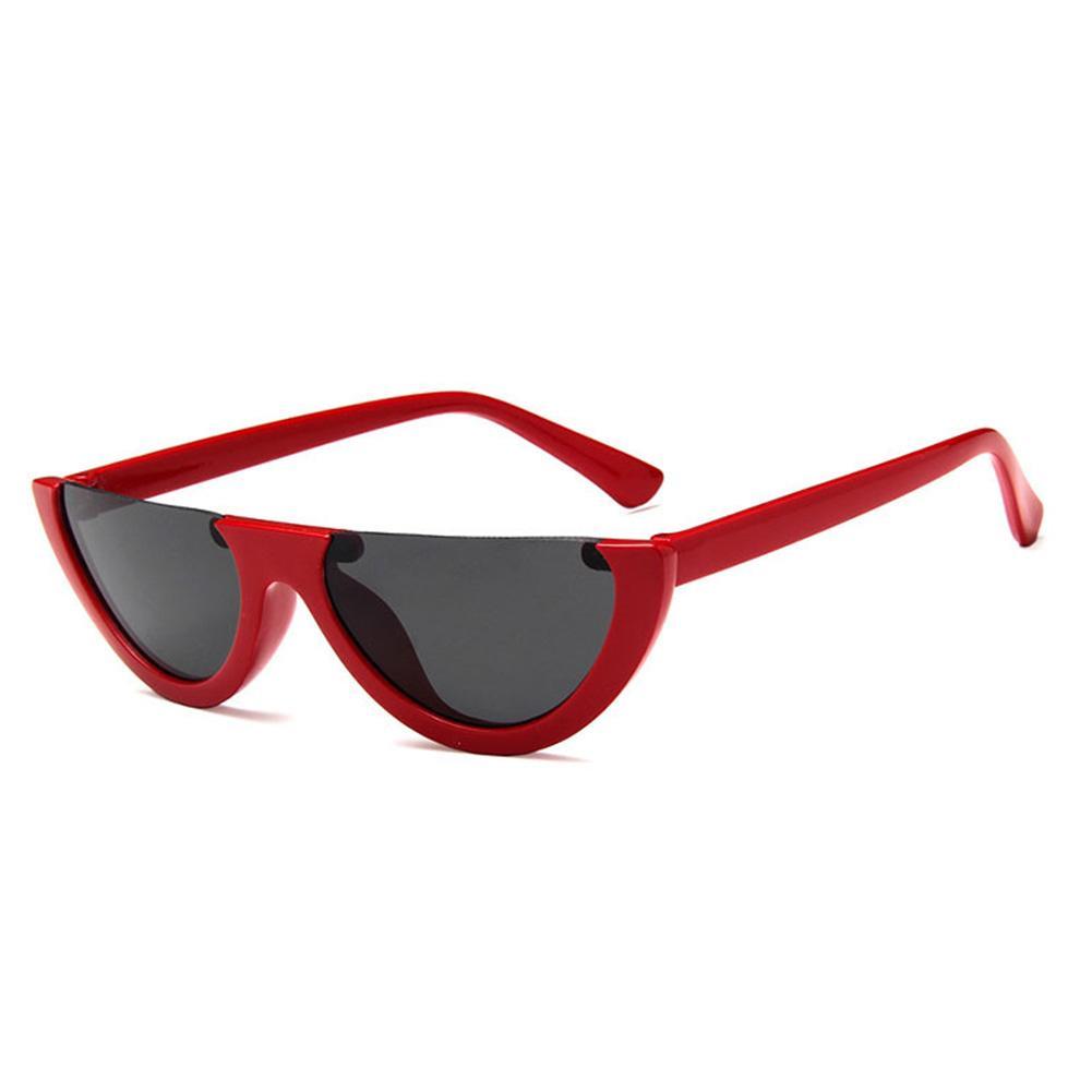1 pc Cool Metade Quadro Cat Eye Sunglasses Mulheres Moda Vintage shades Sunglasses