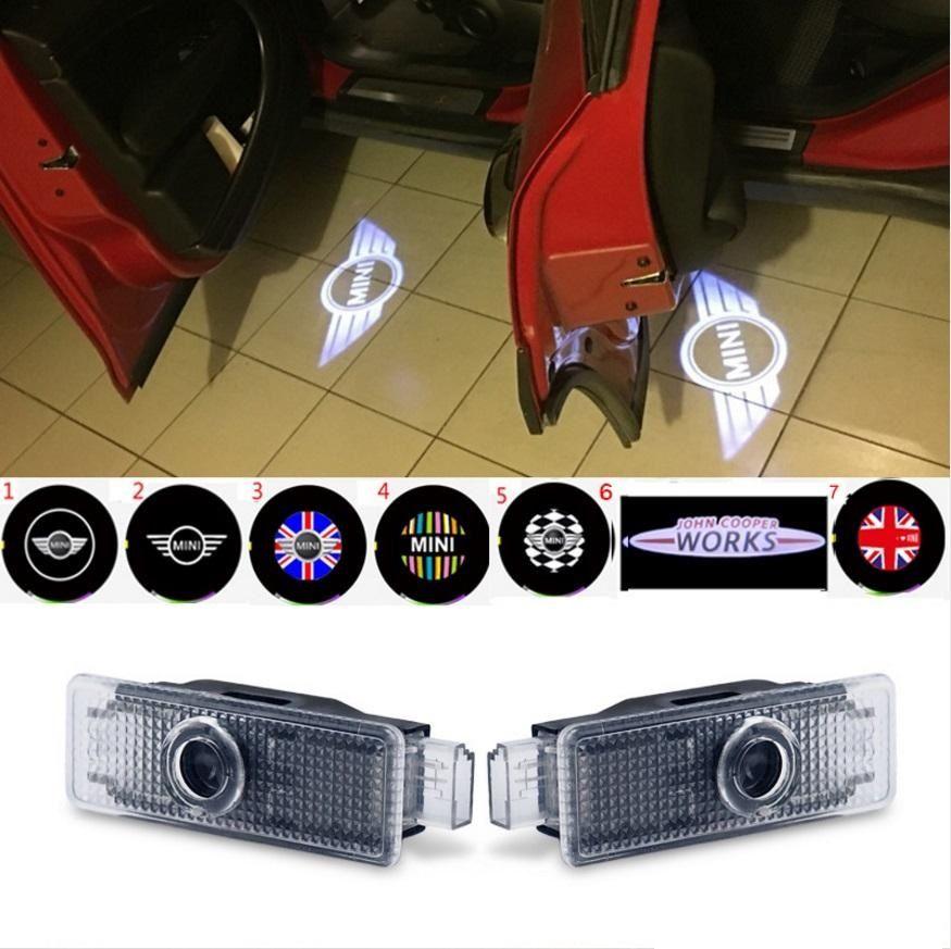 باب السيارة ترحيب أضواء العارض شعار لسيارات bmw ميني كوبر r55 r57 r58 r59 r60 كلوبمان مواطنه s jcw f54 f55 f56 f57