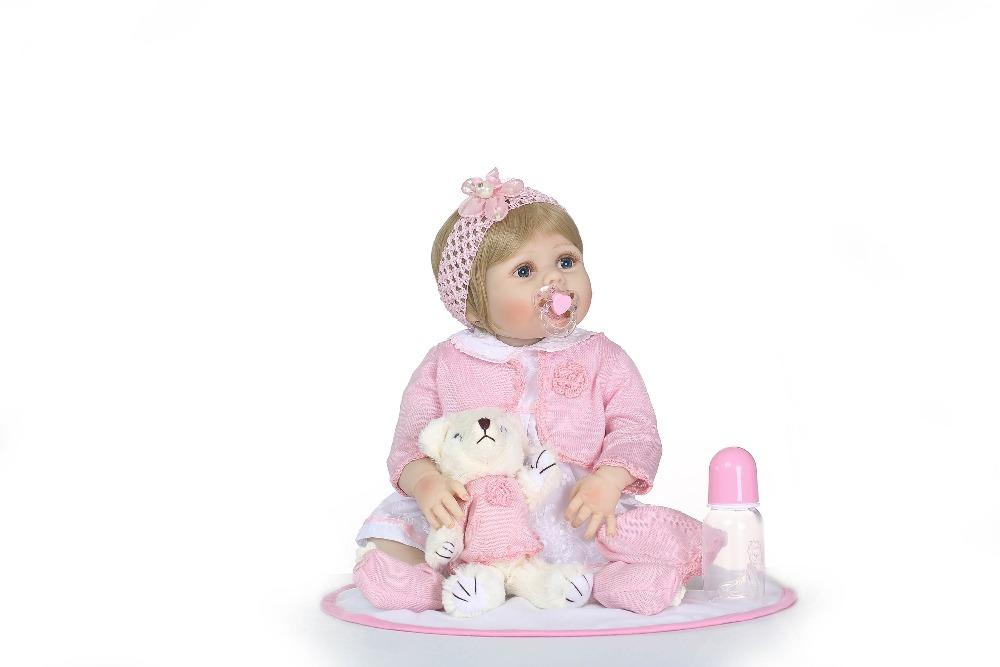 Doll Reborn Full Vinyl Boneca BeBe Reborn Doll For Girls toys for children Soft Silicone Reborn Dolls Baby Realistic Doll