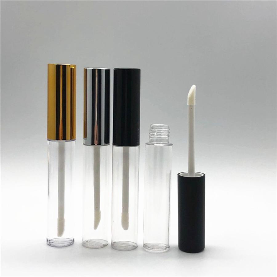 10 ml Vaciar claro brillo de labios Labios Botella Tubo Bálsamo Herramientas Pincel Recipiente de belleza Mini botellas rellenables Lipgloss RRA1314