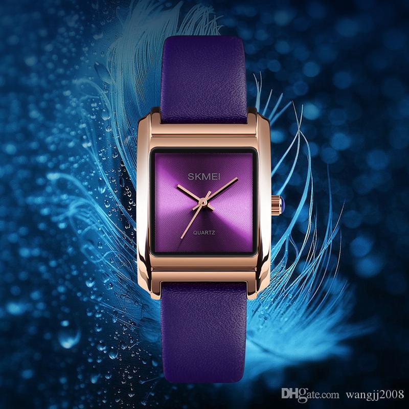Reloj de pulsera cuero de las señoras reloj de cuarzo superior de la marca de moda de lujo a prueba de agua Reloj de mujer de cuarzo mujeres Relogio Femenino