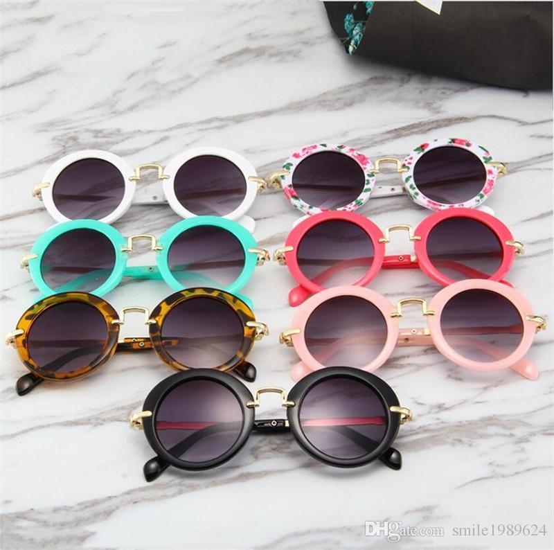 Niños niñas gafas de sol estilo vintage niños marco redondo Uv 400 protección niños gafas de sol bebé sombreado del sol regalo del día de los niños