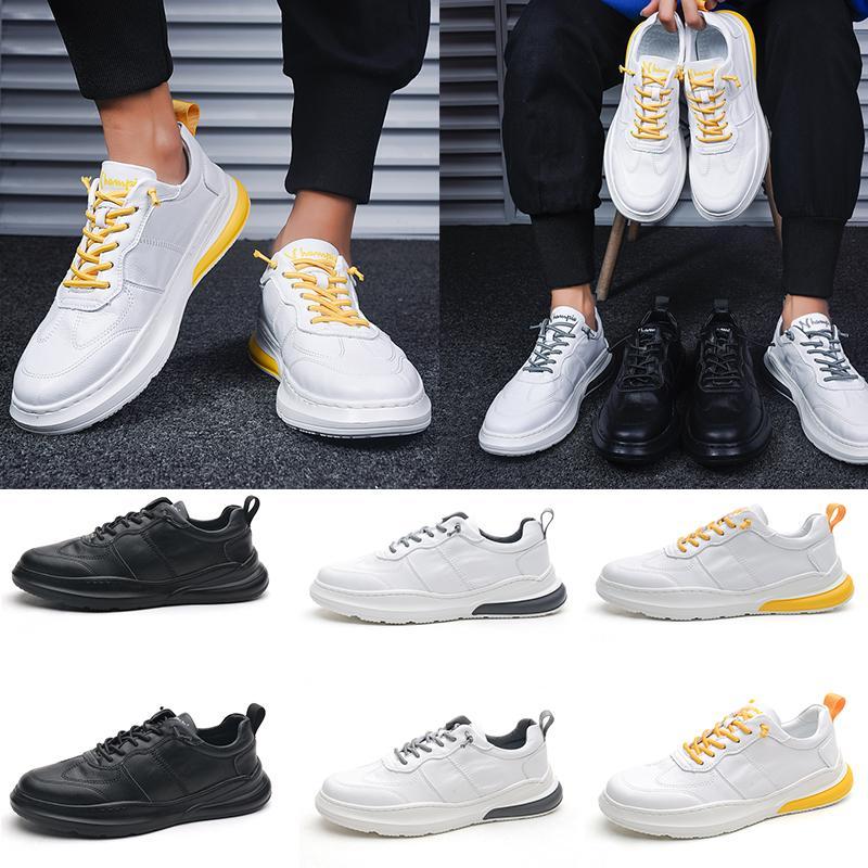 Высокое качество 2020 Мужские кожаные кроссовки на платформе Желтый Белый Черный Мужчины Женщины обувь простой мальчик и девочки утепленные Повседневная обувь Размер 39-45 EUR