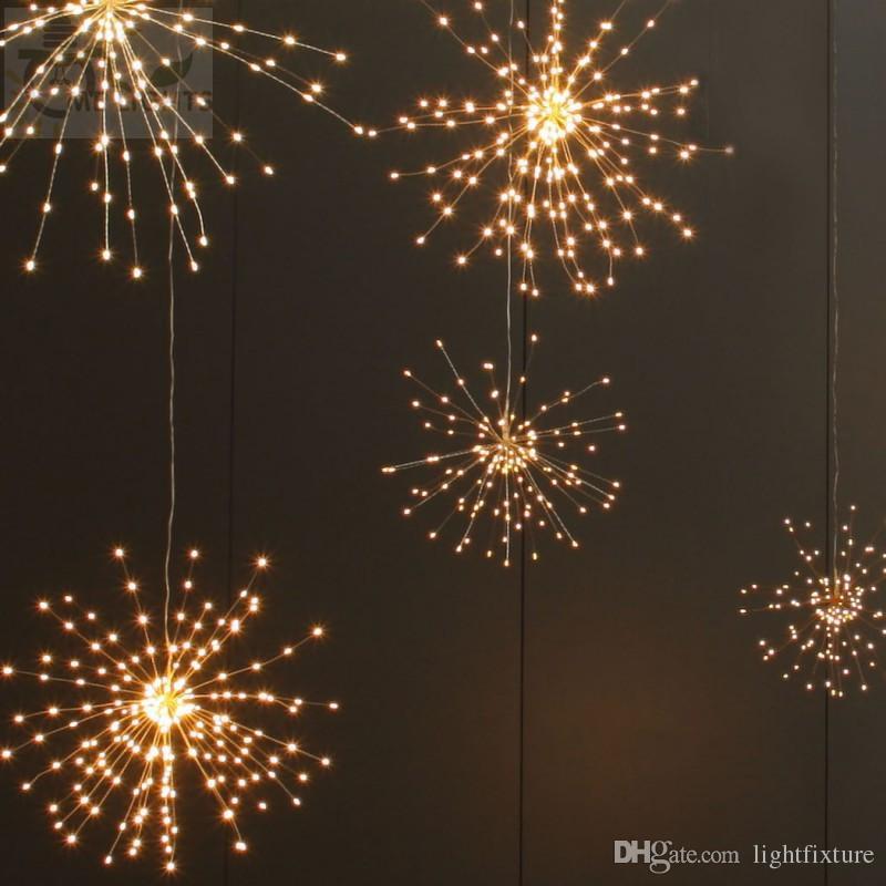 200 LEDs Lichterkette Feuerwerk Weihnachten Wasserdicht Beleuchtung Außen Xmas