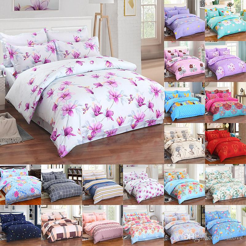 Flower Bedding Sets 4pcs/set Luxury 3D Printed Duvet Cover Pillowcases Home Bedding Supplies Christmas Gift 29 Style XD21692