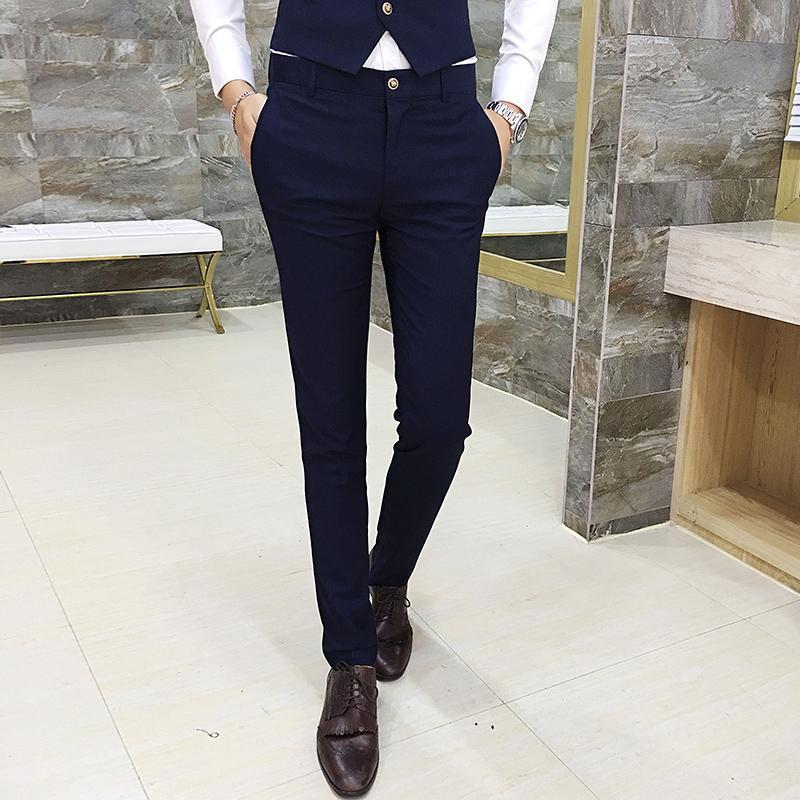 Großhandel Männer Kleid Hose Baumwolle Asien Größe 29 36 Herrenhosen Schlankes Design Hosen Männer 7 Farbauswahl Von Luhaluha, $49.69 Auf