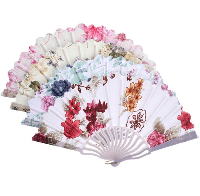 Fan de la mano de la boda Bambú chino Abanico abanico Artesanía Fans Favores del banquete de boda