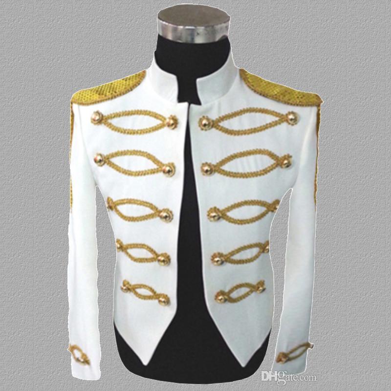 pailletten blazer männer anzüge designs jacke mens bühne kostüme für sänger kleidung tanz stern stil kleid punk rock weiß schwarz 755