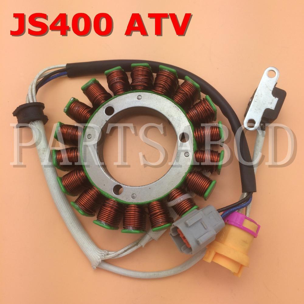 PARTSABCD JS400 Jianshe 400CC ATV Quad 18 Spulenstator Magneto Bashan 400CC ATV Teile