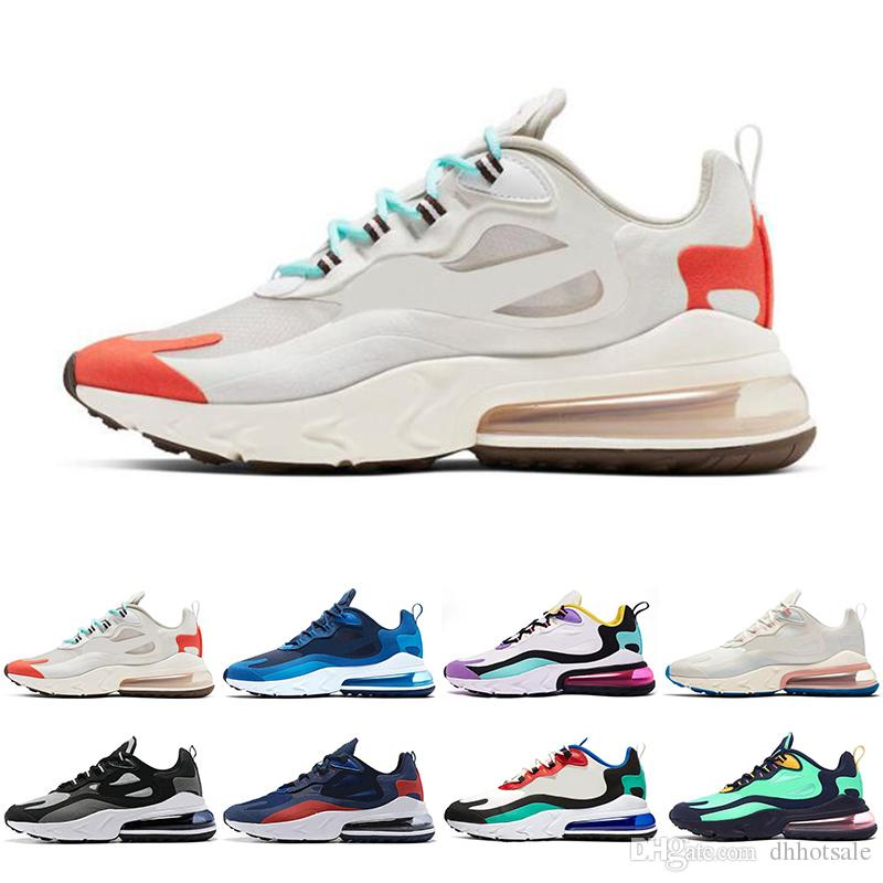 Classic React mens womens running shoes Bauhaus white black Top Quality Breathable Cushion mens trainers Sport Sneaker Shoes Size 36-45