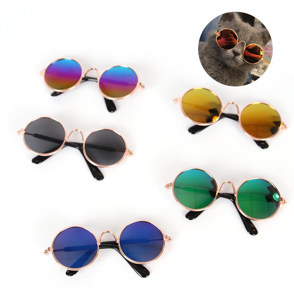 1Pcs New Arrival Cat Dog Pet Glasses Cute Eye-wear Pet Sunglasses Cool Pets Photos Props Accessories 6 Colors Wholesale