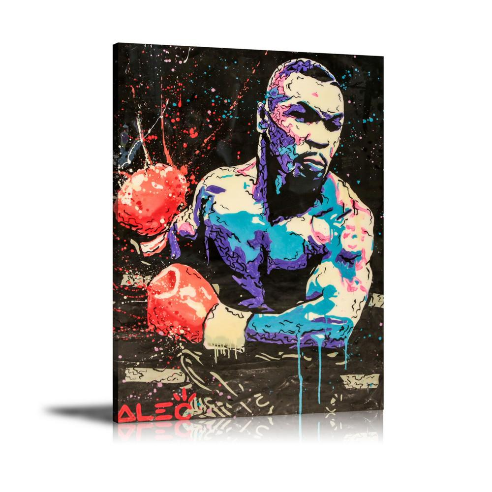 (Unframed/Framed) Alec Monopoly Boxing,1 Pieces Canvas Prints Wall Art Oil Painting Home Decor 24x32.