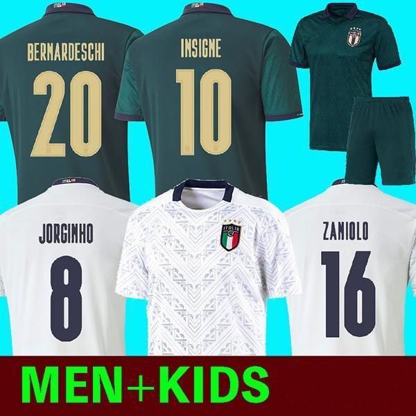MAN + KIDS 2019 2020 ITALY European Cup Fußball Jersey 19 20 Dunkelgrün CHIELLINI EL Shaarawy BONUCCI INSIGNE Bernardeschi Fußball Hemden