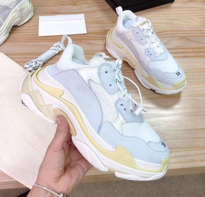 Herren Freizeitschuhe Triple S Comfort Low Old Dad Sneaker Kombination Soles Stiefel der Frauen Männer Turnschuhe Top-Qualität