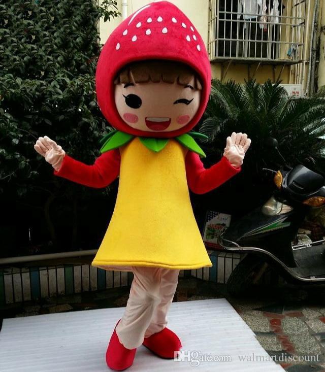 2019 directo de fábrica Material de EVA Chica fresa Disfraces de Halloween Fiesta de cumpleaños de dibujos animados Ropa