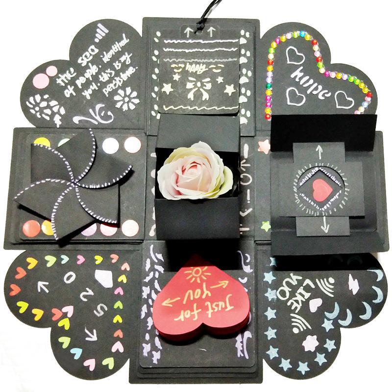 Explosão Amor de Surprise Party Box para Anniversary Scrapbook DIY Handmade Memória Scrapbook Foto de casamento Valentine