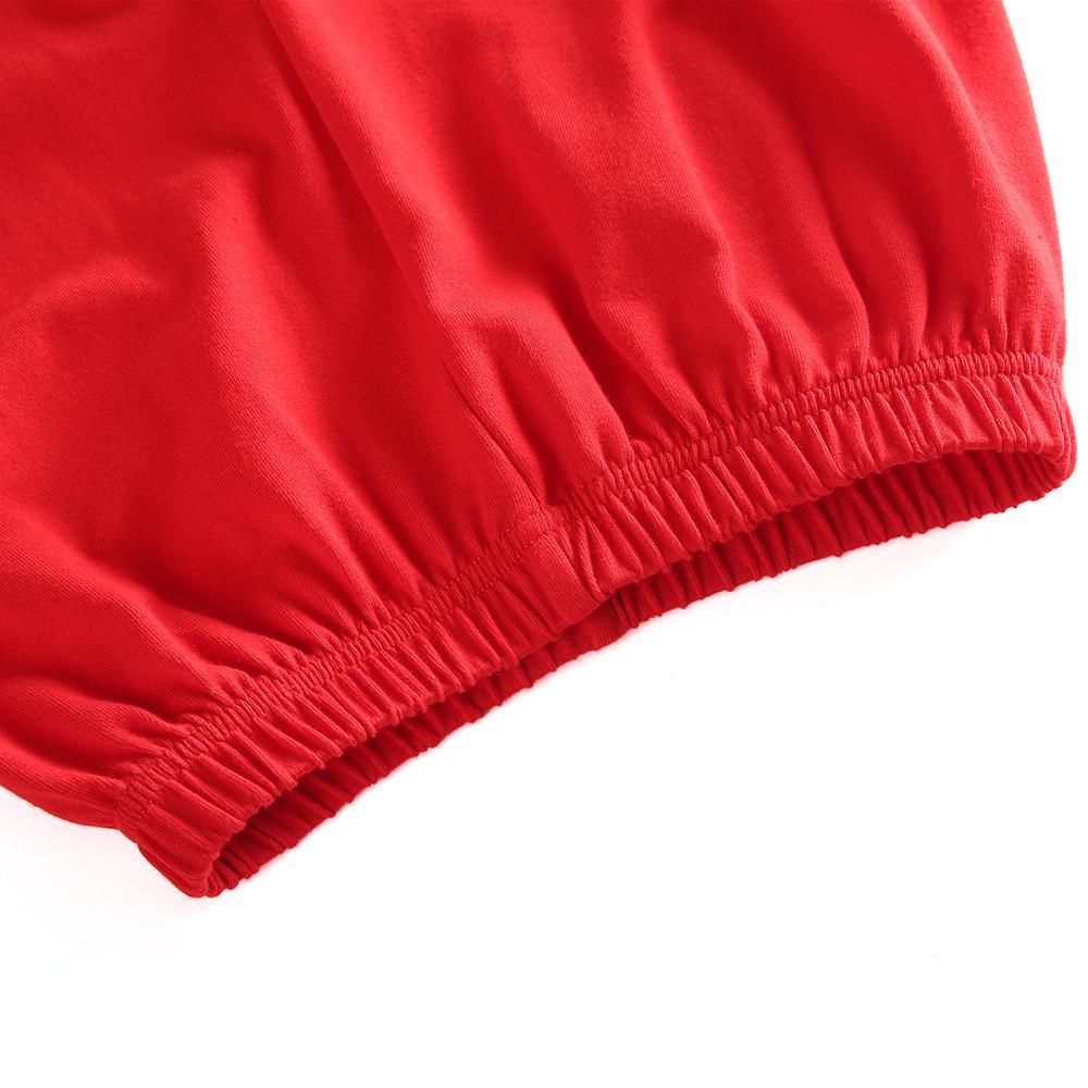 vestuário clássico Crianças Natal de algodão macio sólida inverno pijamas vermelhos bonitos com Boutique plissado menina pijama luva cheia Y200114