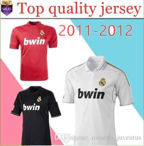 huge discount ff524 9f489 2019 2011 2012 Real Madrid Soccer Jersey 11 12 Retro Jersey Home Away  Champion League RAMOS KAKA RONALDO BENZEMA ALONSO Classic Shirt From ...