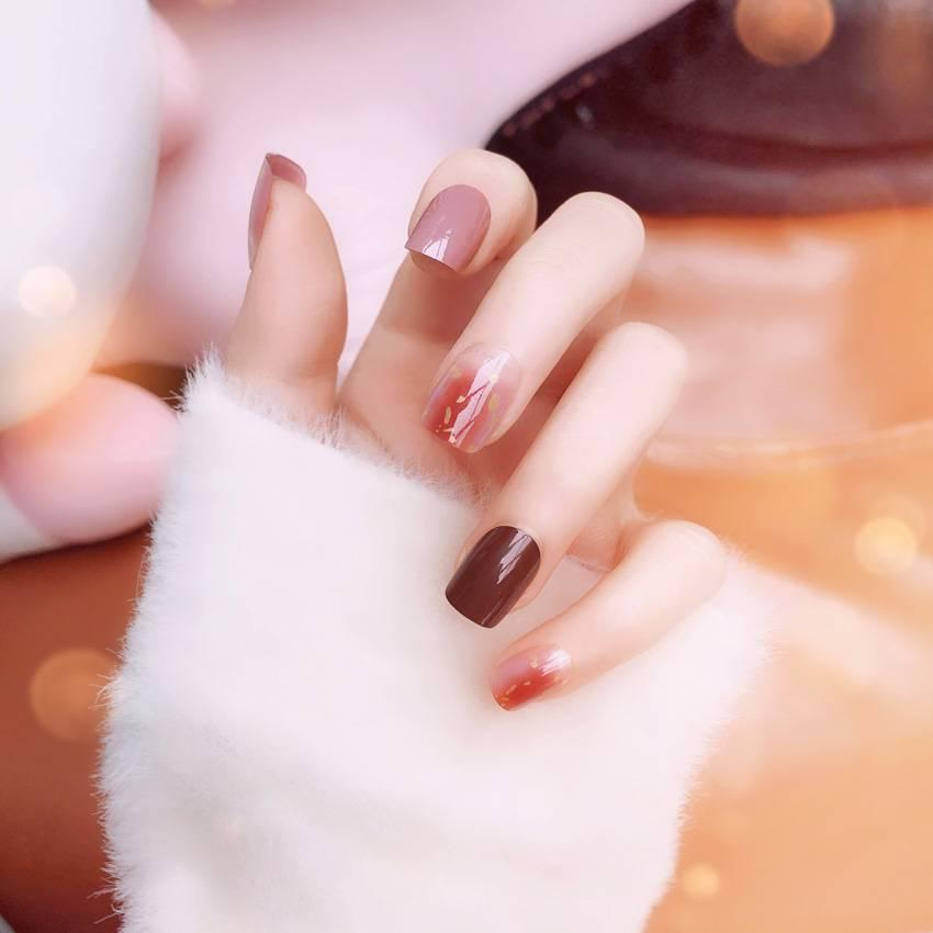 Girls Acrylic Nail Tips Jelly Rendering Artificial False Nails ...