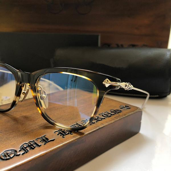 Nuevas gafas de moda para los hombres Drag King mujeres del diseñador clara del estilo del marco de gafas retro del rectángulo de la lente óptica de calidad superior vienen con el caso