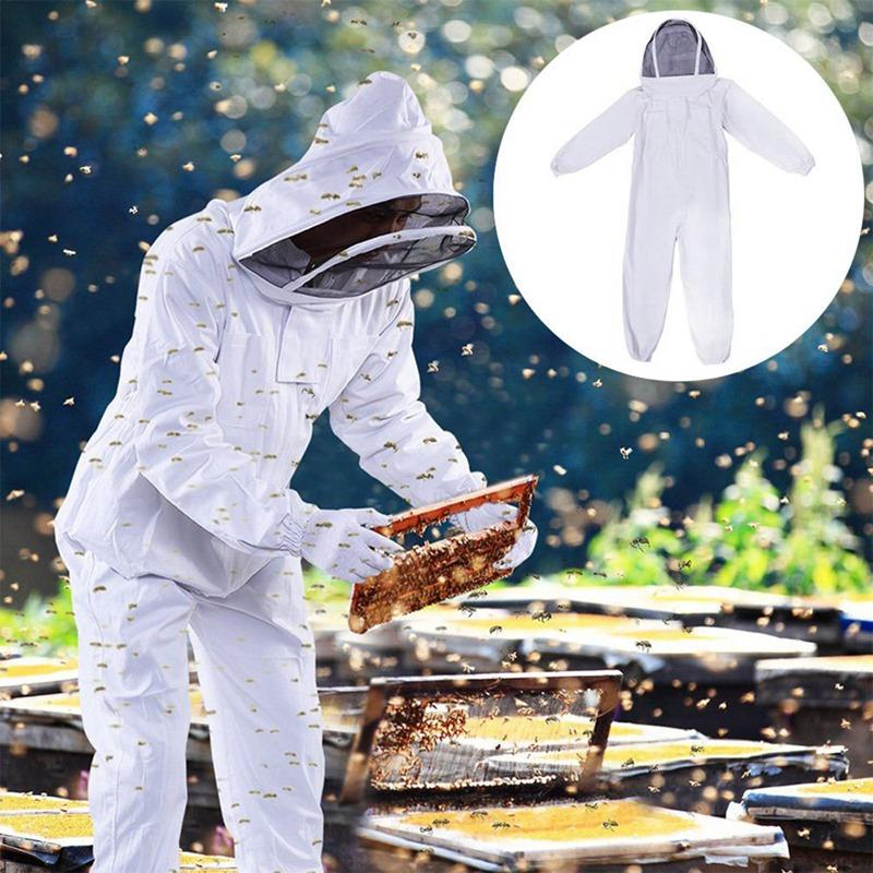 Full Body Beekeeping Jacket Clothing Veil Hood Hat Clothes Suit Protective Beekeeping Suit Beekeepers Beekeeping Equipment