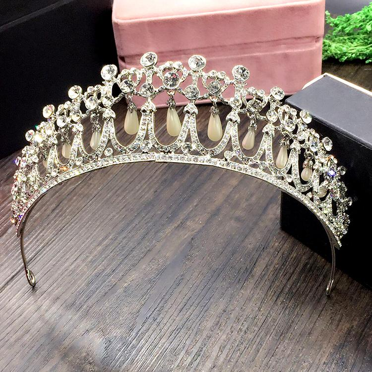 2020 Himstory 2017 New Princess Diana Crown Crystal And Pearl For