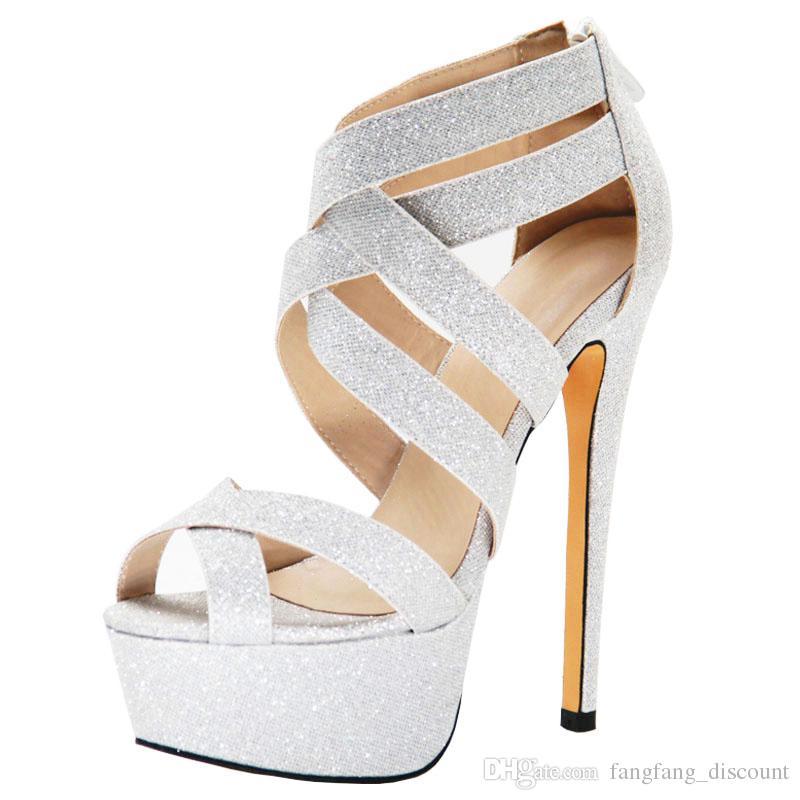 Мода клин каблук рыба рот большой размер блесток ткани мода женские молнии свадебные туфли плюс размер