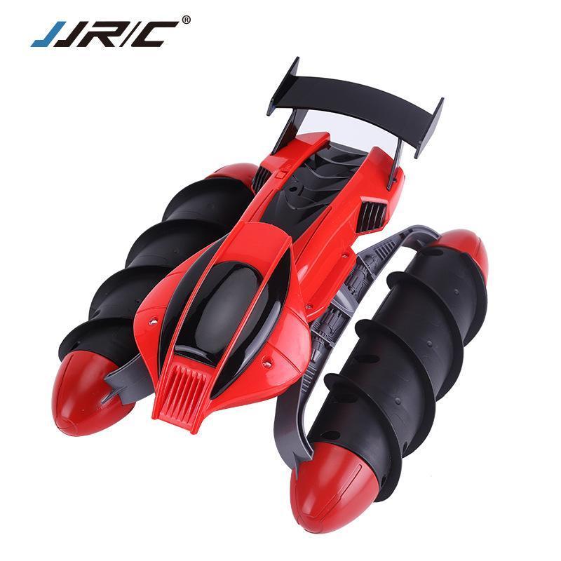JJRC 2.4 G RC Amphibious Hovercraft Stunt Car, Water Land Dual Mode, два роликовых боковых вождения, с подсветкой, подарок на День Рождения Xmas Kid, 2-1
