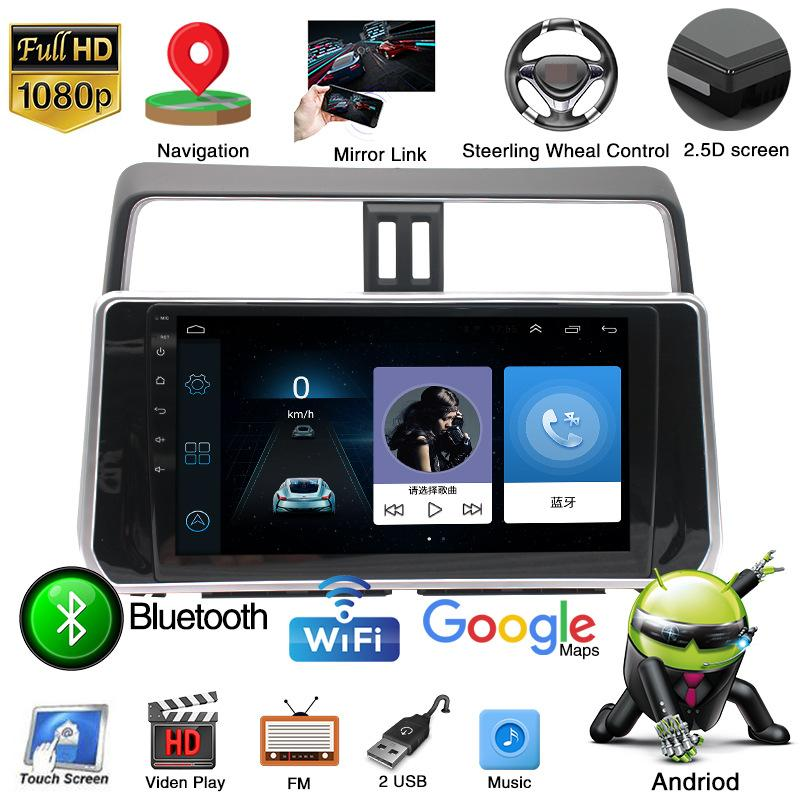 10 Inch Car GPS Navigation Multimedia-Player Car-Head-Unit Steering-Wheel Stereo For TOYOTA PRADO 2018