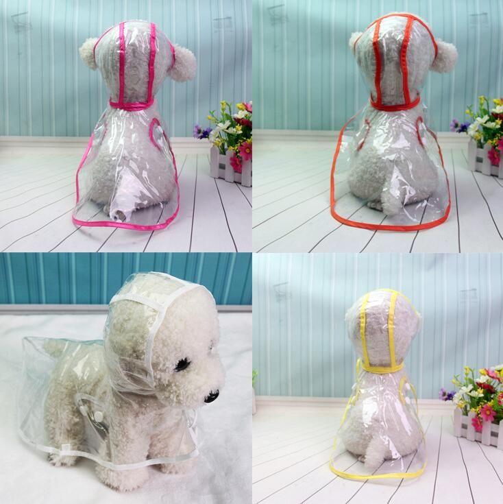 Dog raincoat spring summer small dog pet dog raincoat transparent pet clothes waterproof free shipping 040866
