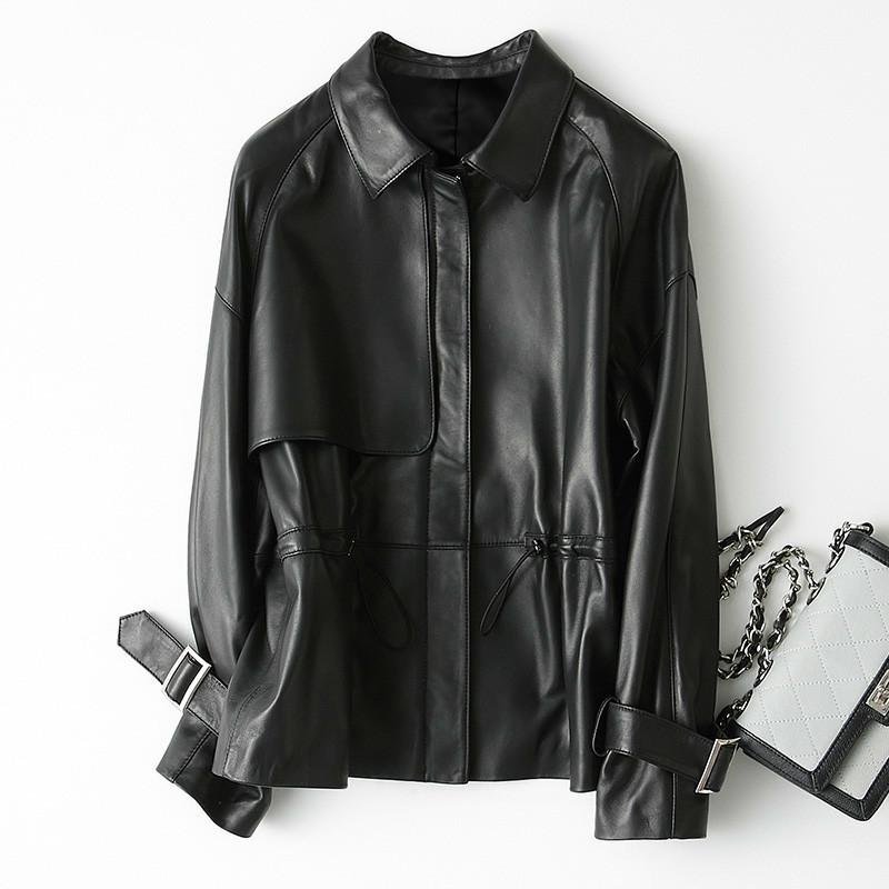 2020 New Genuine Leather Jacket Women Spring Autumn Short Sheepskin Coat Korean Real Leather Campera Mujer KQN29104 KJ2317
