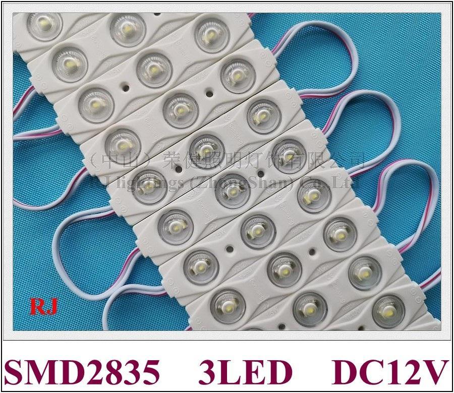 Module à LED d'injection avec lentille SMD 2835 DC12V 3 LED 1,5W 150LM IP65 82mm * 18mm * 7mm PCB CE en aluminium de circuits directeurs d'usine