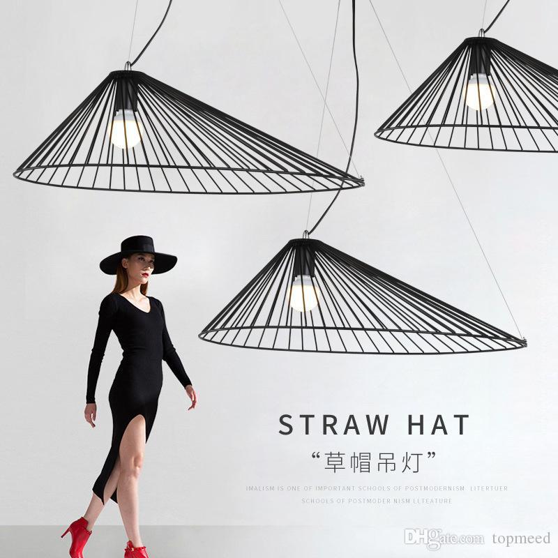 الشمال الحديد الفن القش قبعة الثريا صناعة الرياح الإبداعي فندق الإضاءة مقهى مطعم كبير قبعة chandelie