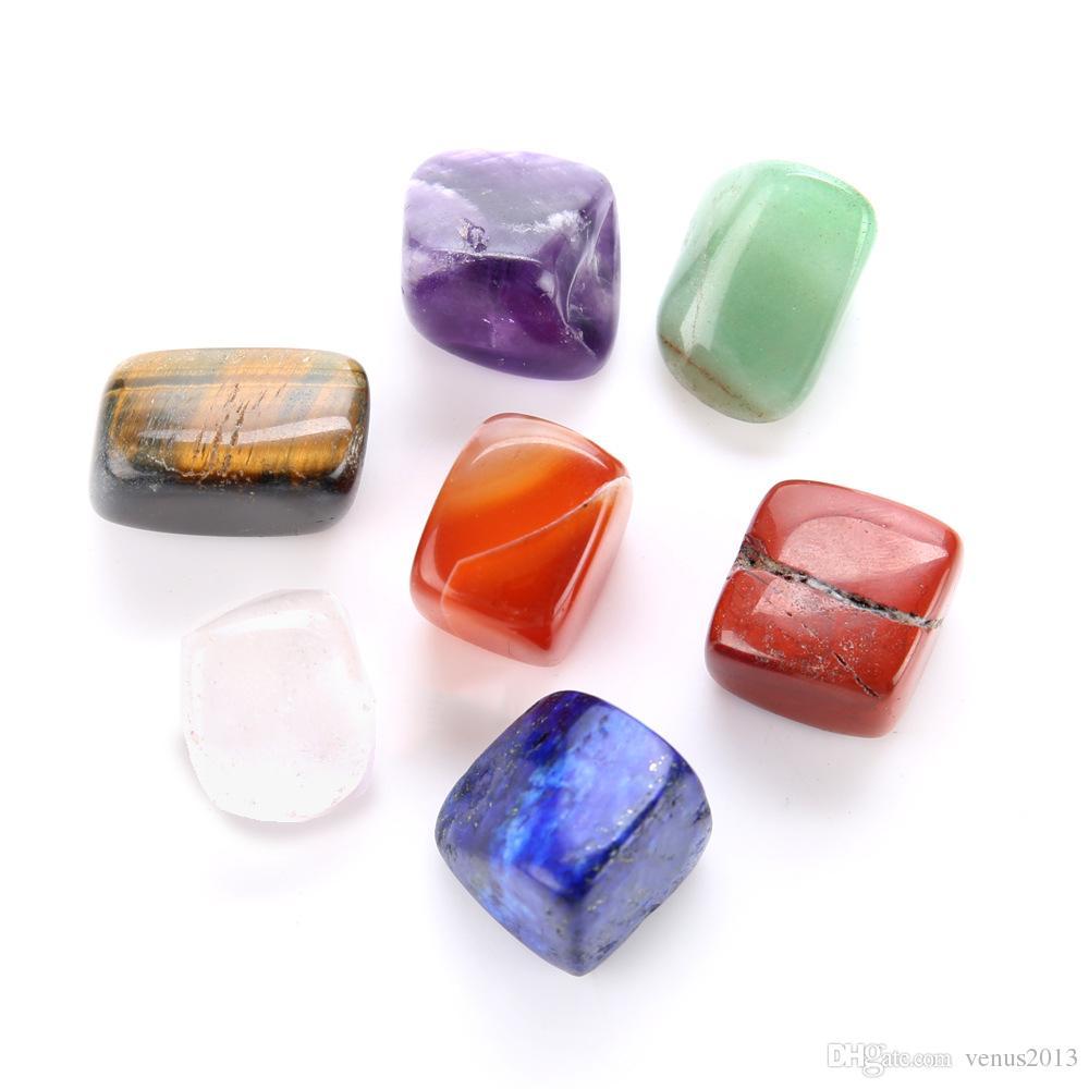7 قطعة / المجموعة الكريستال شقرا الحجر الطبيعي متعدد الألوان غير النظامية شكل الريكي الشاكرات شفاء الأحجار الحرف الرائعة الساخن بيع