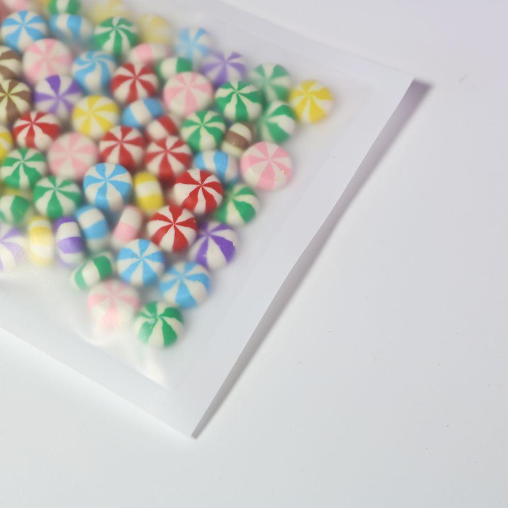 8.5x13cm / 3.25x5in 100pcs Gözyaşı Çentik Mat Şeffaf / Beyaz / Beyaz Düz Kilit Çanta Plastik Kapanabilen çanta Ambalaj Zip