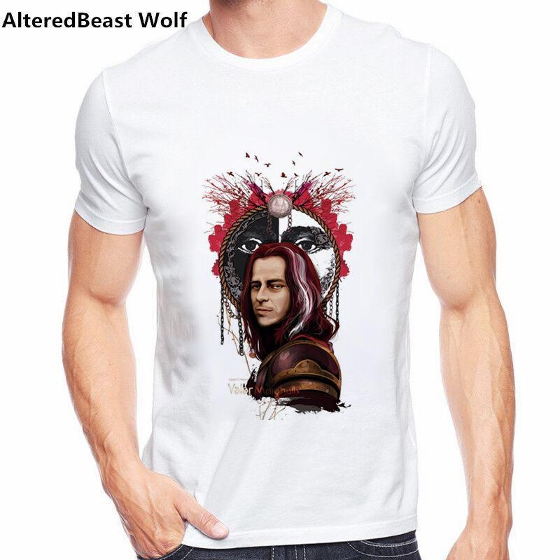 Men T-Shirt 2019 Summer Fashion Valar Morghulis Letter Printed Casual T-Shirts