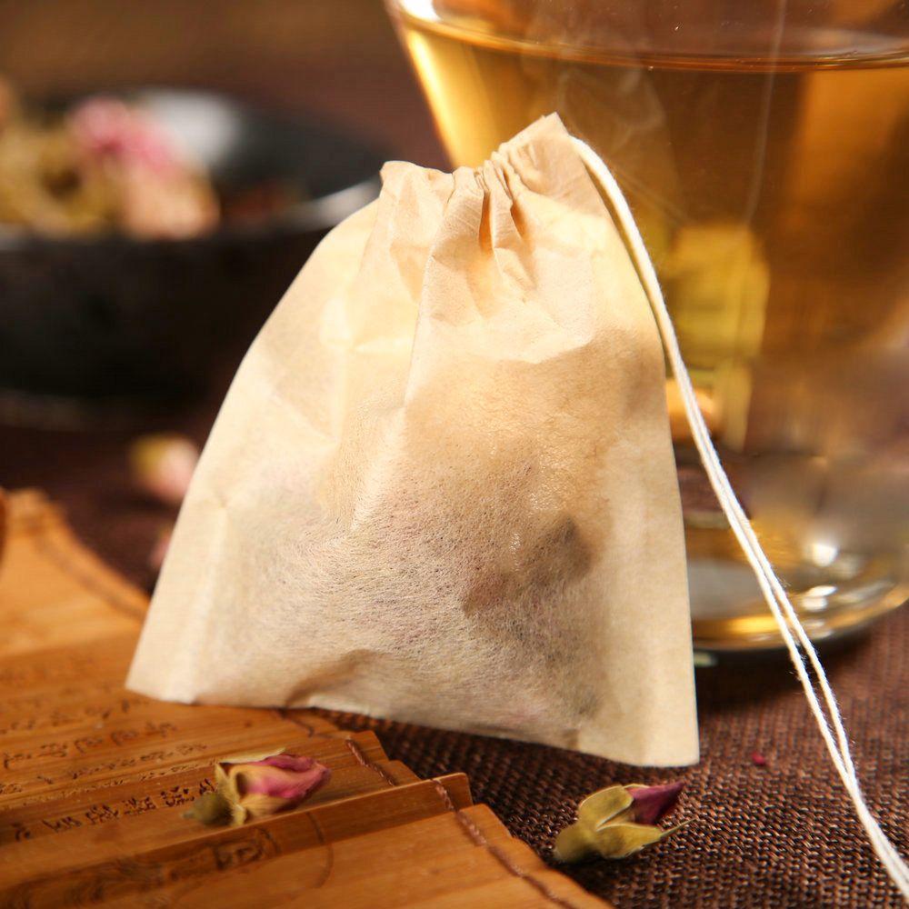 3 tamaños 1000pcs / lot de la bolsita de té de filtro bolsas de papel sellado caliente infuser de madera con cordón Bolsa de té de hierbas té flojo