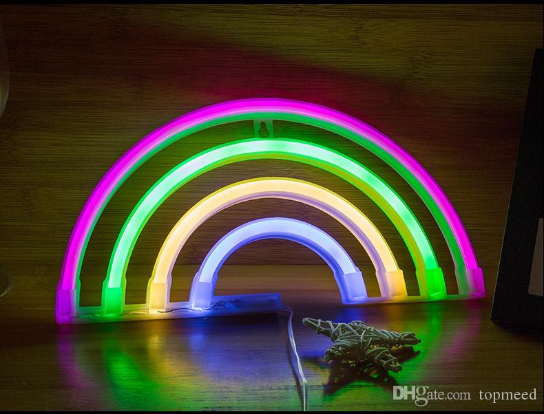 Lindo De Para Del Del Lámpara DormitorioLámparas Arco De Decoración De IrisLuz LED Neón La Del Iris De Decoración Neón Compre Letrero Arco La 2H9EIWD