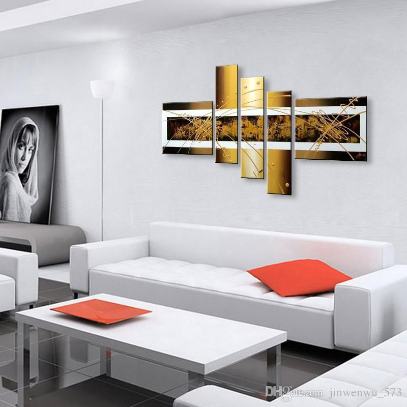 decorazione della parete pittura a olio moderna pittura a olio su tela pittura astratta nero bianco pop art economici dipinti moderni XD5-015