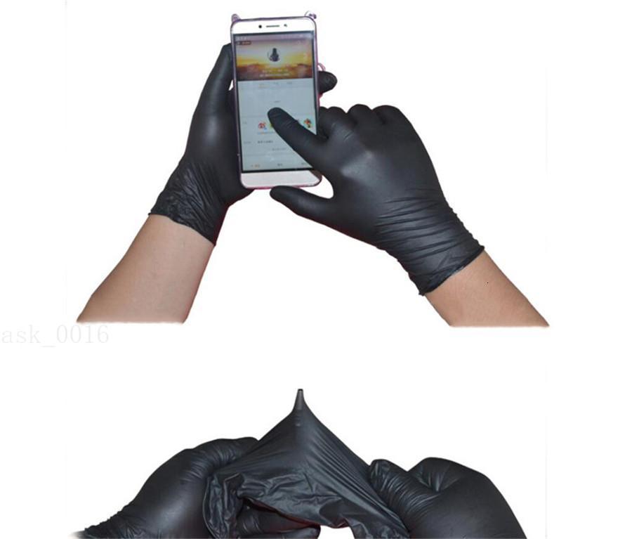 Schwarz Stück Einweg-Latex Universal-Kuechenwaschmaschinen Arbeit Gummi Garten Links Rechts 100Pcs Hände Schutzhandschuhe VX22