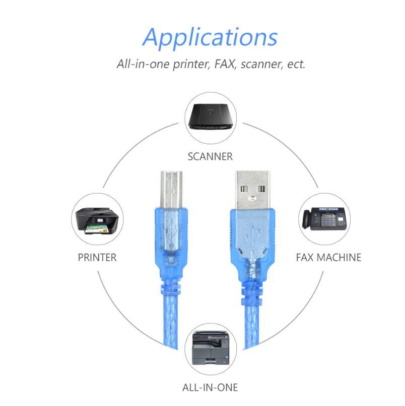 Blue Length: 5m,Brand New and Normal USB 2.0 AM to BM Cable with 2 core