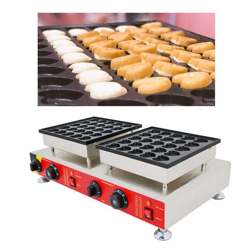 Ticari kullanım elektrikli Hollandalı poffertjes maker makinesi 110 v 220 v mini kalp gözleme gözleme demir baker pan yapma ızgara